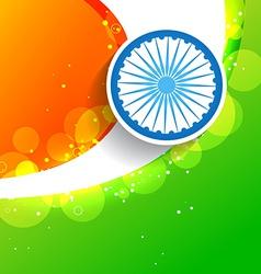 stylish creative indian flag vector image