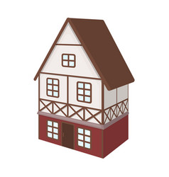 stylized english cottage architectural cottage vector image vector image