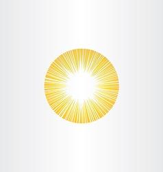 sunshine rays sun icon solar energy vector image