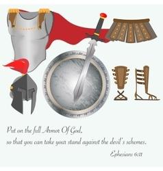 The Armor of God Christianity Jesus Christ Battle vector image