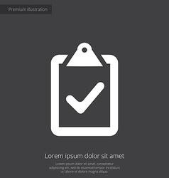 vote premium icon white on dark background vector image