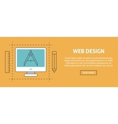 Web design concept banner vector image