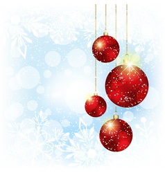 Sparkling christmas red crystal ball vector