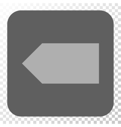 Direction left rounded square button vector