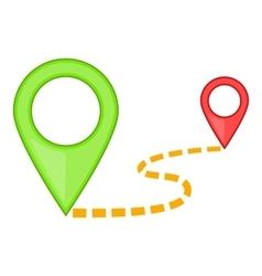 Map pointer icon cartoon style vector