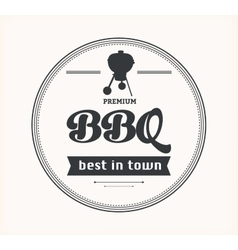 Barbeque vintage sign on white background vector image