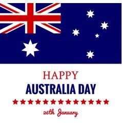 Happy australia day 26 january festive design vector