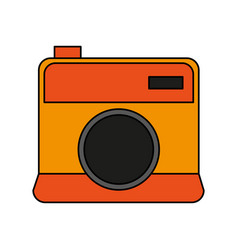 Color image cartoon analog camera with flash vector