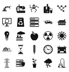 Compensator icons set simple style vector