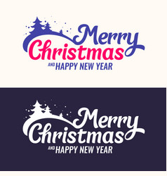 2018 merry christmas and happy new year modern vector