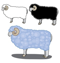 Sheep in different styles vector
