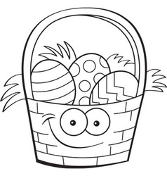 Cartoon easter basket vector