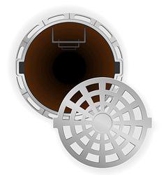manhole 07 vector image