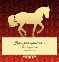 Background with horse vector