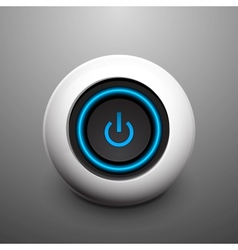 Sphere power button vector