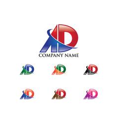 Ad letter logo vector