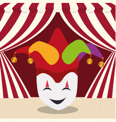 April fools day mask joker hat vector