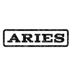 Aries watermark stamp vector