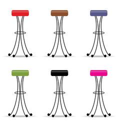 Bar stools set furniture ilustration vector