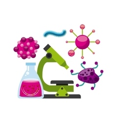 biology science design vector image