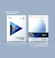 Brochure design abstract annual report business vector