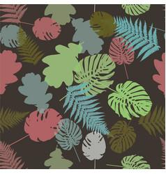 colorful leaf background eps10 vector image