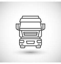 Commercial truck line icon vector image vector image