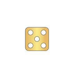 Dice 5 computer symbol vector image vector image