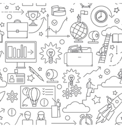 Doodle business line pattern vector