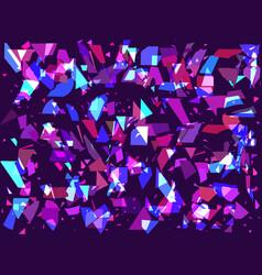 Flying broken particles on a dark background vector