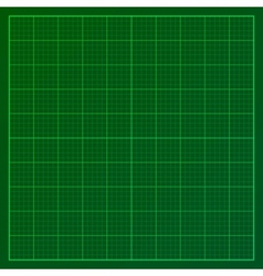 Green graph paper vector image vector image