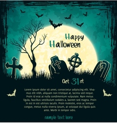 Green grungy halloween background vector image vector image