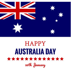 Happy australia day 26 january festive design vector