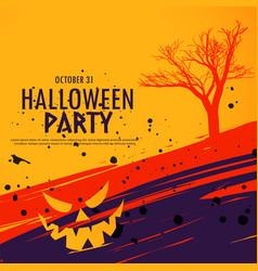 happy halloween celebration background in grunge vector image