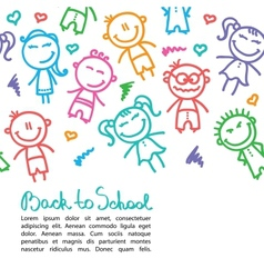 Kid background vector