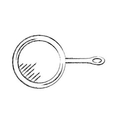 Kitchen pan isolated icon vector