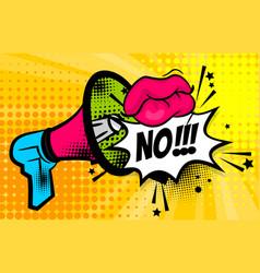 Megaphone pop art comic text no vector
