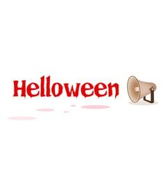 Megaphone shouting word halloween vector