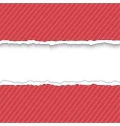 Red paper frame for text vector