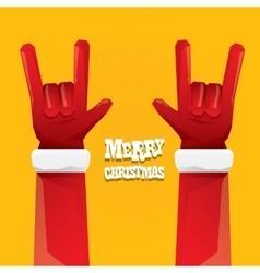 Santa claus rock n roll gesture icon vector