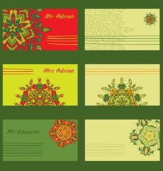 Set simple design for holiday letters invitations vector