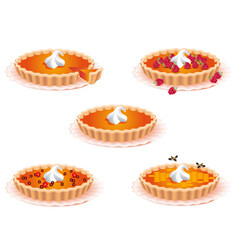 sweet pies for the design of food confectionery vector image