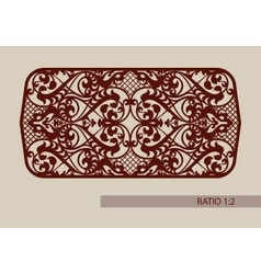 The template pattern for cutting decorative panel vector