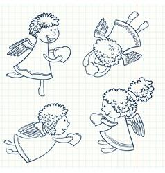 valentines set vector image vector image