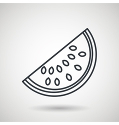 watermelon drawing isolated icon design vector image vector image