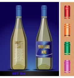 Wine bottles mockup with your label here vector