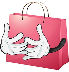 A red bag vector image
