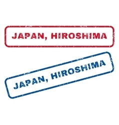 Japan hiroshima rubber stamps vector