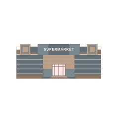 Shops stores and supermarket buildings flat vector