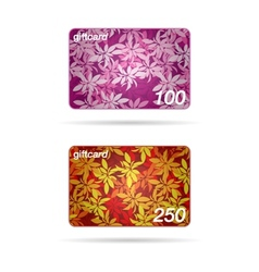 Gift card or promotion cards vector